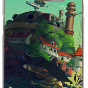 Howl's Moving Castle Phone Case for Galaxy S6 Edge+ from World of Ghibli