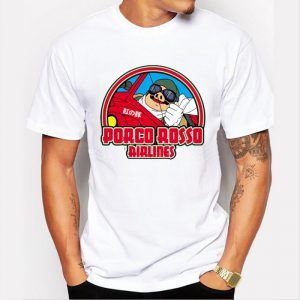 Porco Rosso Men's T-Shirt - Porco Rosso Airlines - from World of Ghibli