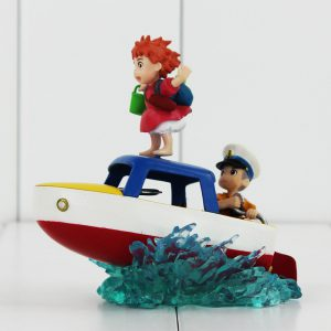 Ponyo Collectible Figurine - Ponyo and Sosuke - from World of Ghibli