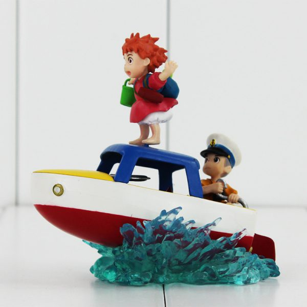 Ponyo Collectible Figurine – Ponyo and Sosuke – from World of Ghibli