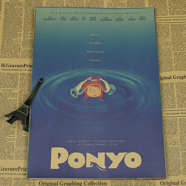 Ponyo Movie Poster from World of Ghibli