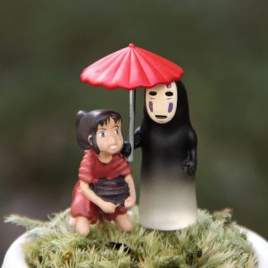 Spirited Away Collectible Figurines - Chihiro & No-Face - 2 piece set - from World of Ghibli