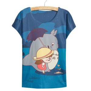 My Neighbor Totoro Women's T-Shirt - Totoro and Mei - from World of Ghibli
