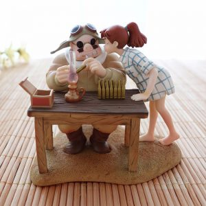 Porco Rosso Collectible Figurine – Porco with Fio Piccolo from World of Ghibli