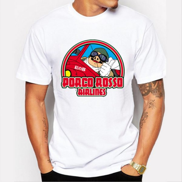 Porco Rosso Men's T-Shirt – Porco Rosso Airlines – from World of Ghibli