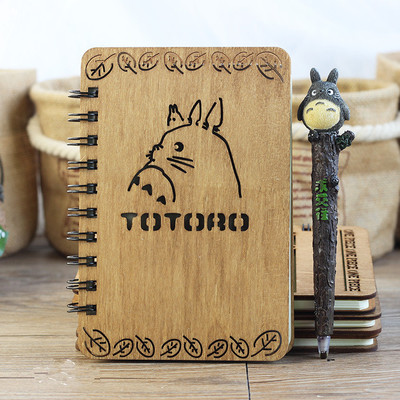 My Neighbor Totoro Wooden Cover Notebook and Pen Set from World of Ghibli