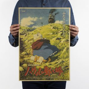 Howl's Moving Castle Movie Poster from World of Ghibli