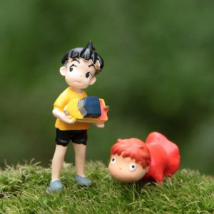 Ponyo Miniature Collectible Figurines - Ponyo & Sosuke - from World of Ghibli